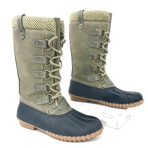 Esprit Tall Duck Boots Insulated Waterproof Sz 9